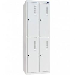 Шкаф одежный металлический ШОМ-400/2-4