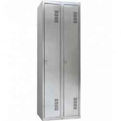 Шкаф одежный из нержавеющей стали ШОМНж-400/2