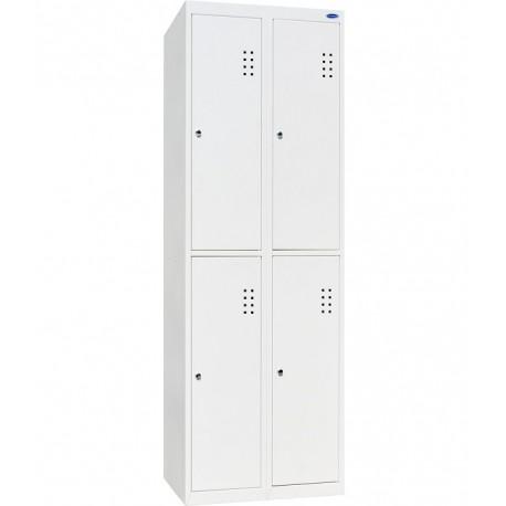Одежный металлический шкаф ШО-300/2-4